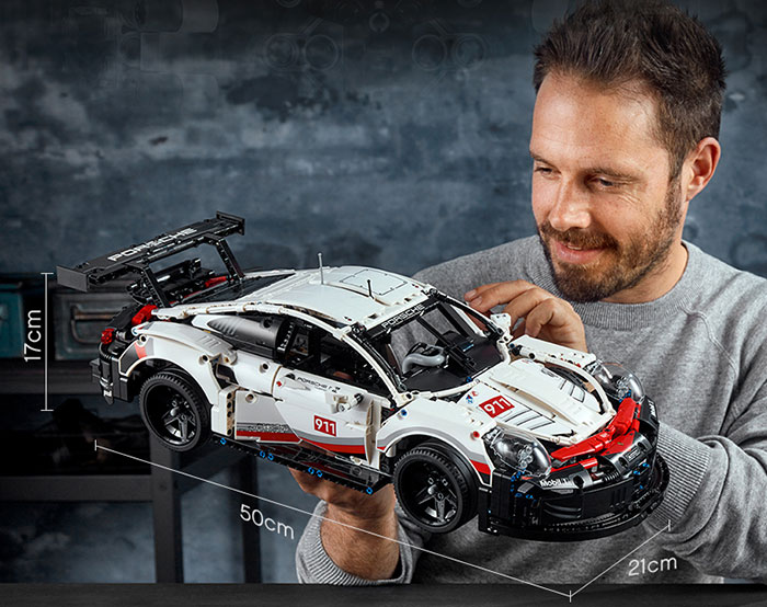 乐高LEGO保时捷911赛车42096王一博同款积木机械组
